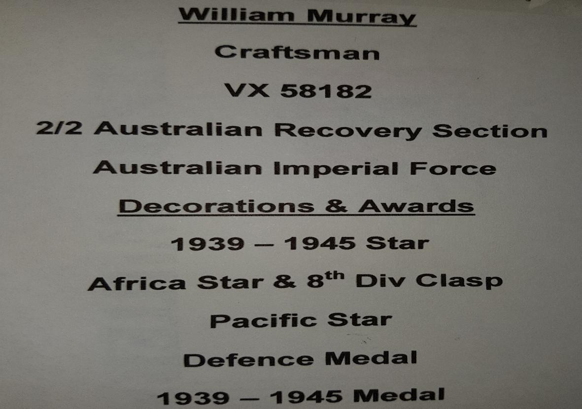 william murray certificate