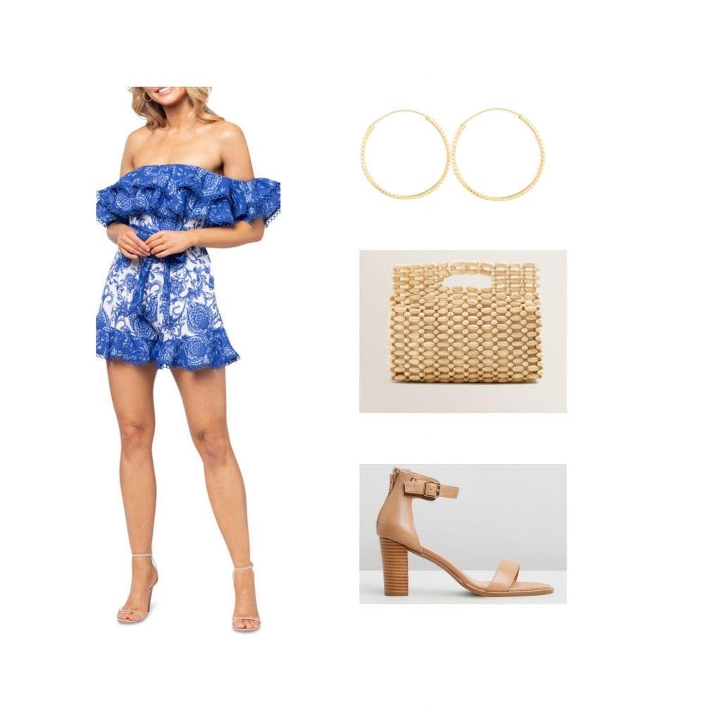 beach wedding outfit idea