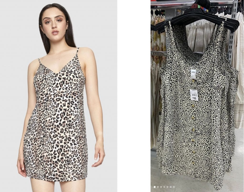 Kmart leopard print dress comparison