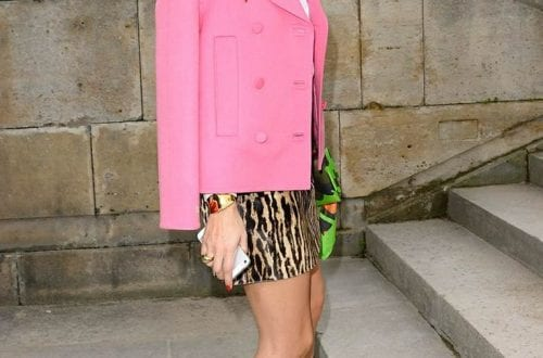 Olivia Palermo wearing Leopard Print