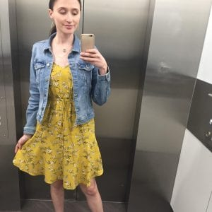 A photo of me wearing my new Target Dress
