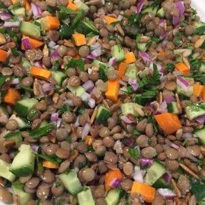 healthy lentil salad for christmas
