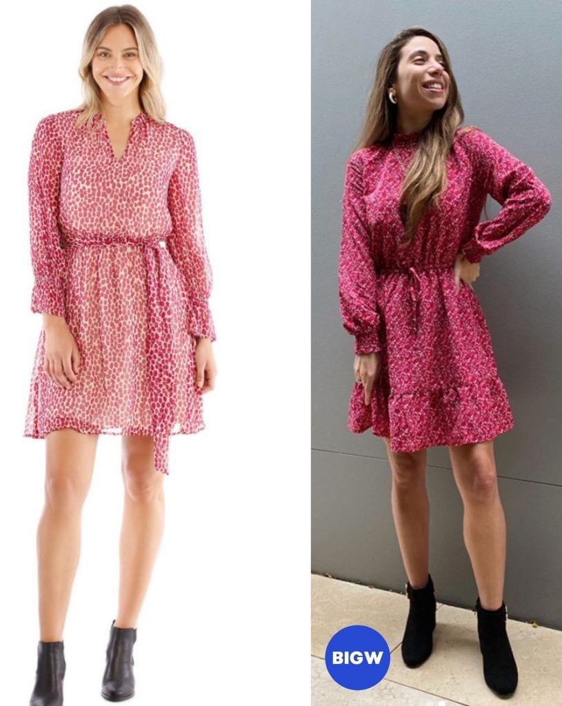 another big w dress comparison