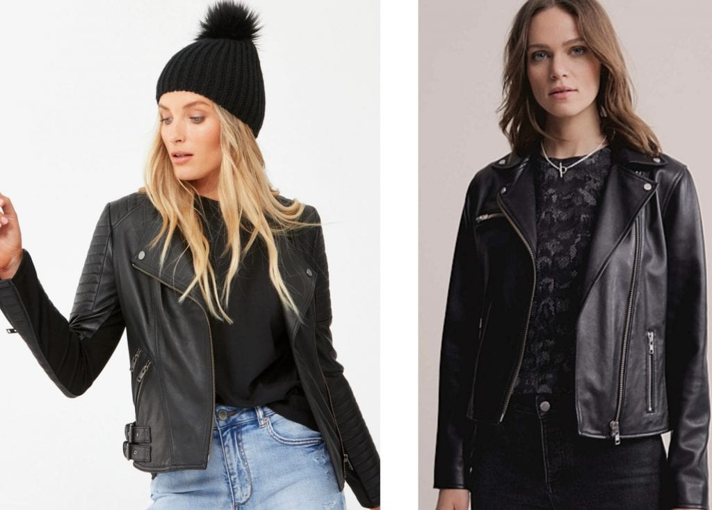 witchery leather jacket