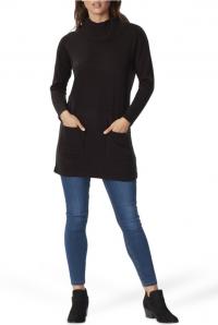 Big W Women's Cowl Neck Tunic - Black