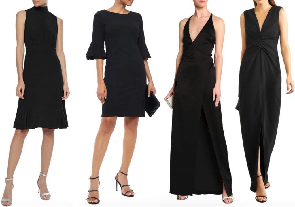 timeless black dresses