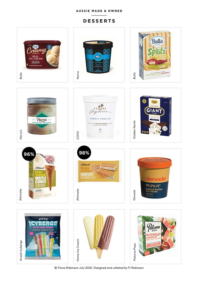 Australian owned and made desserts